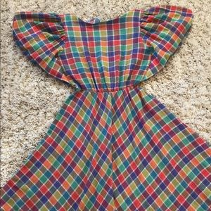 Dresses & Skirts - 1980's Rainbow Plaid Dress